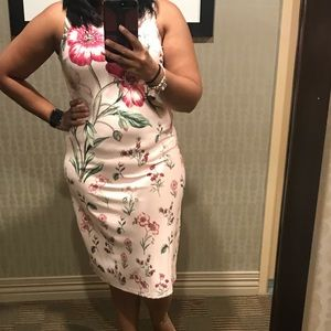 Floral baby pink dress
